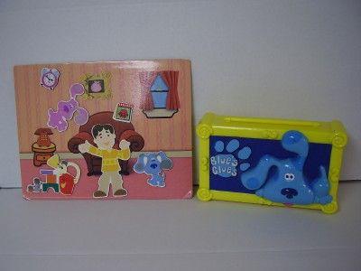 blues clues joe magnet set and blues crayon box 2 items