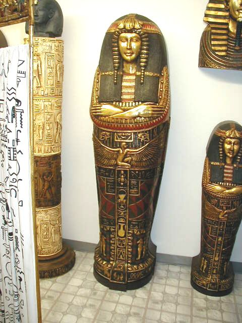 EGYPTIAN STATUE QUEEN SARCOPHAGUS CABINET CD/DVD