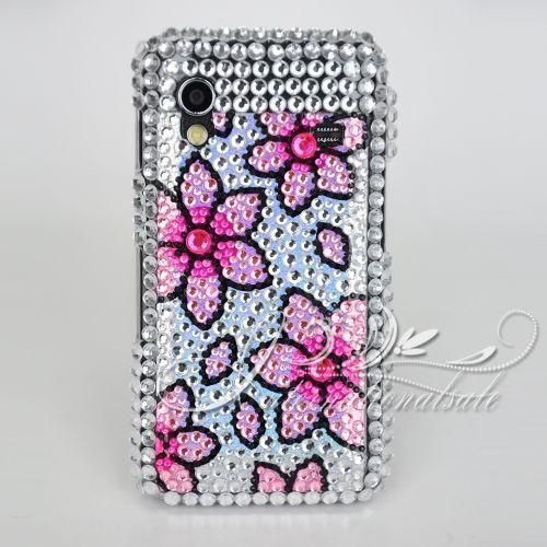 Pink Flower Bling Case for SAMSUNG GALAXY ACE S5830US