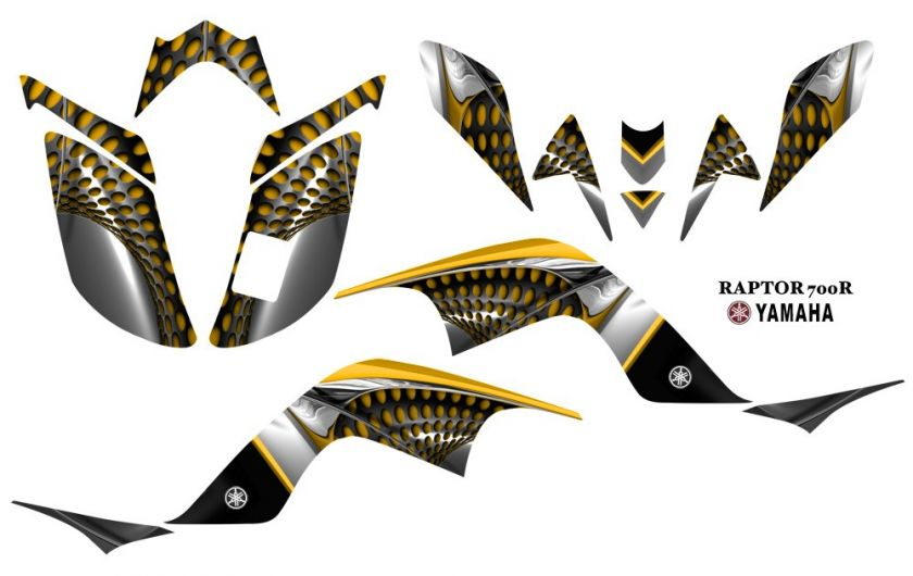 Yamaha Raptor 700 ATV Quad Graphics Decal kit 7777Y