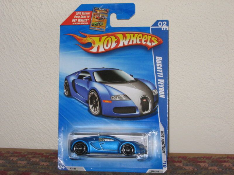 hot wheels hot auction series bugatti veyron satin blue vhtf. Black Bedroom Furniture Sets. Home Design Ideas