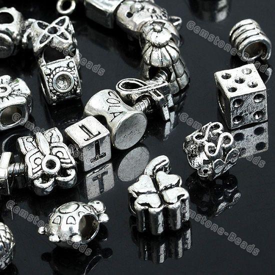 Wholesale Tibetan Silver Spacer Bead For Charm Bracelet