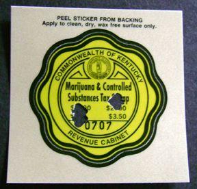 Kentucky Marijuana Drug Tax Stamp Marihuana Stamps