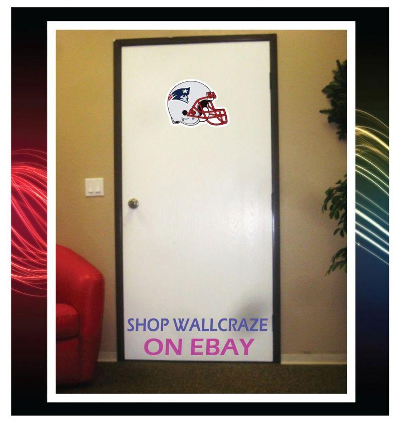New England Patriots Helmet Removable Door Wall Decor Sticker Decal