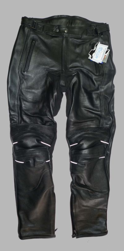 Mens Black Leather Motorcycle Sports Touring Pants