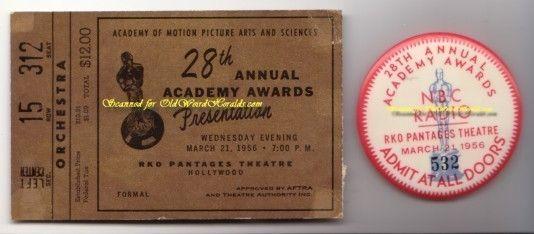 ACADEMY AWARDS Original Event TICKET & PINBack BUTTON Pin Fab